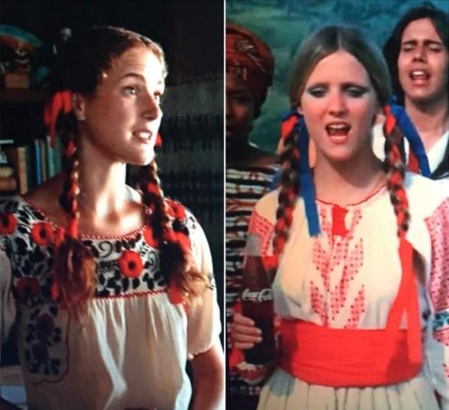 מימין: ילדת הפרחים מהפרסומת. משמאל: אחותה מהפרק