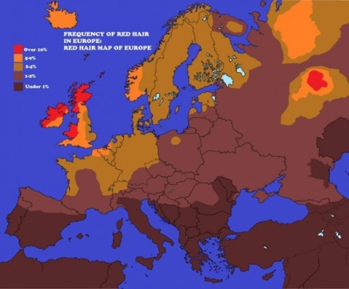 Red Hair map